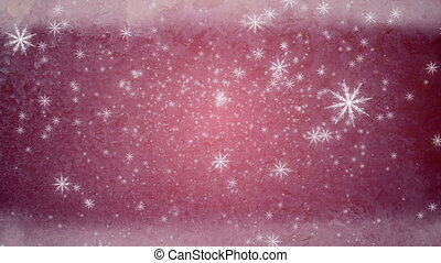 snow fall ice background red