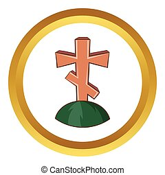 Grave cross vector icon