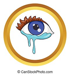 Crying eyes vector icon