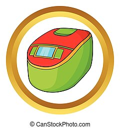 Slow cooker vector icon