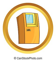 ATM bank cash machine vector icon