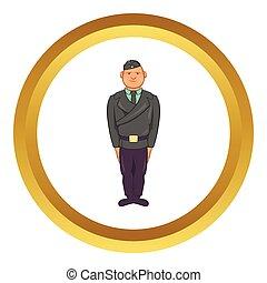 Man in a police uniform vector icon