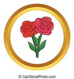 Flowers on grave vector icon