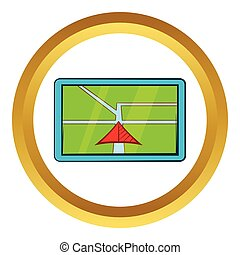 Navigator vector icon, cartoon style - Navigator vector icon...