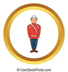 Man in a red jacket vector icon