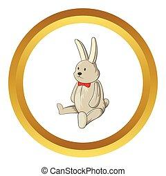 Toy bunny vector icon