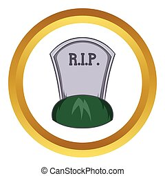 Grave rip vector icon