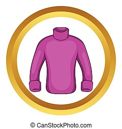 Mans sweater vector icon