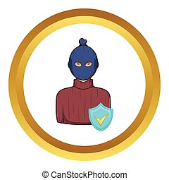 Robbery insurance vector icon