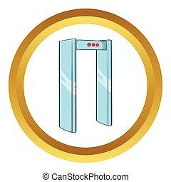Metal detector vector icon