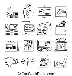 banking and financial services icons