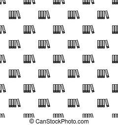 Office folders pattern, simple style - Office folders...
