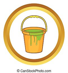 Bucket of paint vector icon