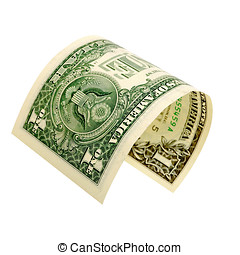 One dollar isolated. - One dollar isolated on a white...