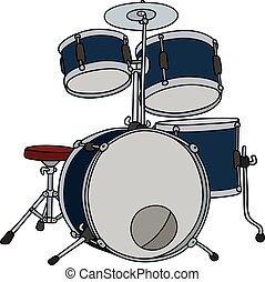 Dark blue percussion - Hand drawing of a dark bue percussion