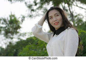 Asian vampire woman halloween