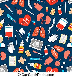 Medicine and healthcare seamless pattern - Medicine and...