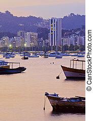 Botafogo Bay in Rio de Janeiro - Brazil, City of Rio de...