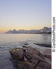 Ipanema Beach in Rio de Janeiro - Brazil, City of Rio de...