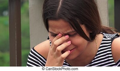 Abuse Victims Or Teen Girls Crying