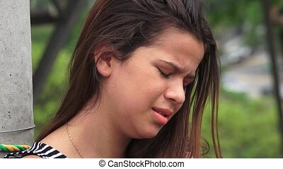 Hurt And Tearful Female Teen