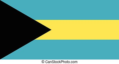 Official vector flag of Bahamas . Commonwealth of the...