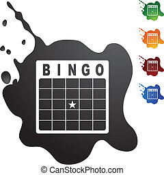 Bingo Card - Bingo card web button isolated on a background