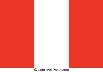 Official vector flag of Peru . Republic of Peru .