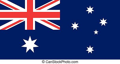 Official vector flag of Australia . Commonwealth of...