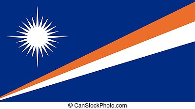Official vector flag of Marshall Islands . Republic of the...