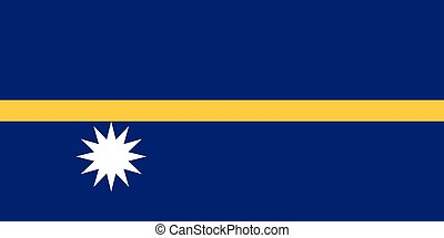 Official vector flag of Nauru . Republic of Nauru .