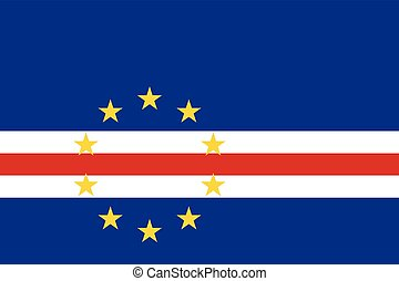 Official vector flag of Cape Verde ( Cabo Verde ) . Republic...