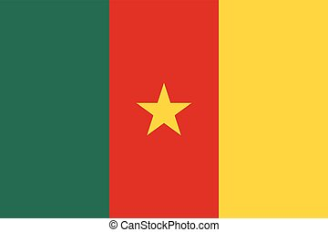 Official vector flag of Cameroon . Republic of Cameroon .