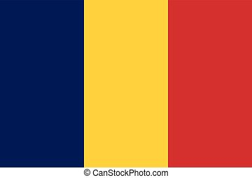 Official vector flag of Chad . Republic of Chad .