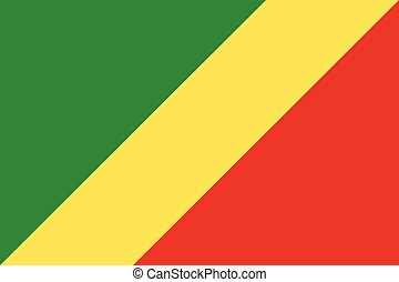 Official vector flag of Republic of the Congo .