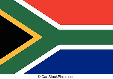 Official vector flag of South Africa . Republic of South...