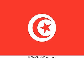 Official vector flag of Tunisia . Tunisian Republic .
