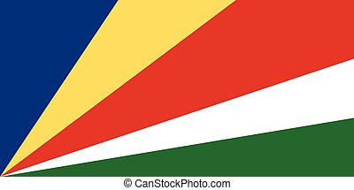 Official vector flag of Seychelles . Republic of Seychelles...