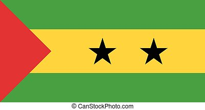 Official vector flag of Sao Tome and Principe . Democratic...
