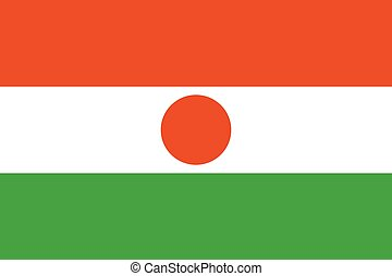Official vector flag of Niger . Republic of Niger .