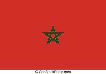 Official vector flag of Morocco . Kingdom of Morocco .