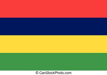 Official vector flag of Mauritius . Republic of Mauritius .