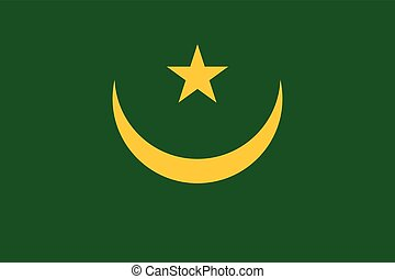 Official vector flag of Mauritania . Islamic Republic of...