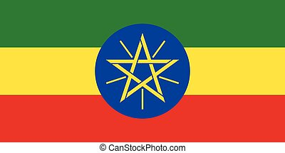 Official vector flag of Ethiopia . Federal Democratic...