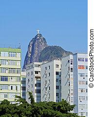Corcovado Mountain in Rio - Brazil, City of Rio de Janeiro,...