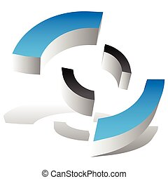 Crosshair, target mark style icon / logo for generic use