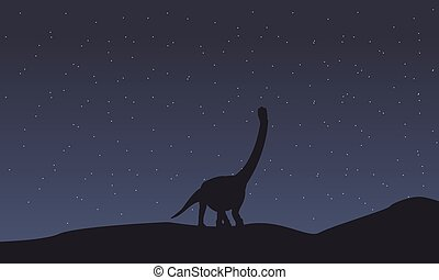 Silhouette of argentinosaurus scenery collection