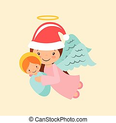 angel holding a baby jesus - cartoon angel holding a baby...