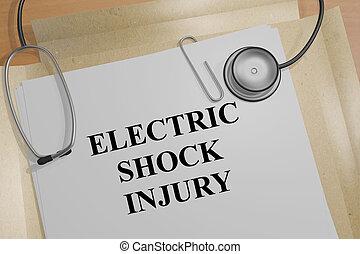 Electric Shock Injury - medical concept - 3D illustration of...