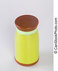 Thermo or Thermo flask on a background. - Thermo or Thermo...